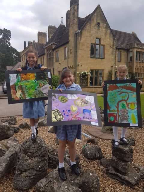 A day of Art at Cobham Hall Girls School