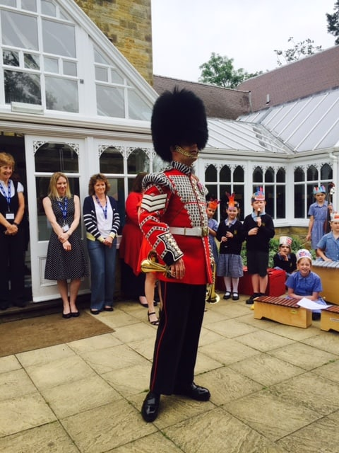 Celebrating the Queens Birthday with a real Welsh Guard in attendance