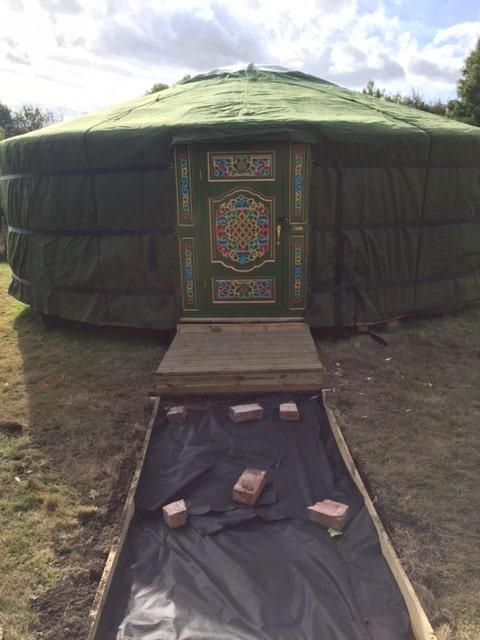Construction of the Yurt nears completion