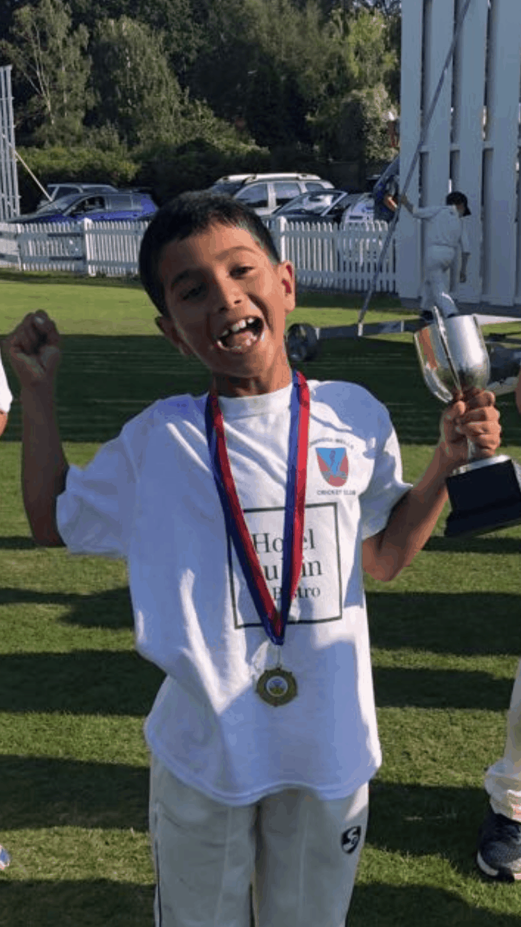 Budding young cricketer - Amrit, year 4