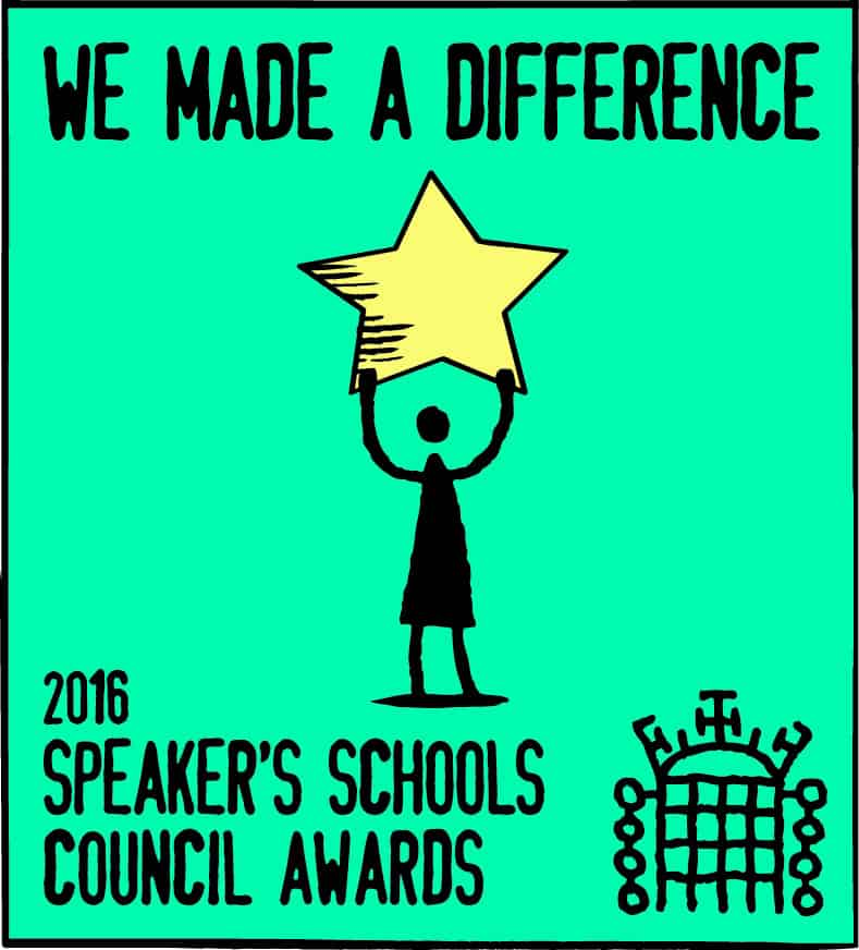 Recognition of our School Council Achievements from the Houses of Parliament.
