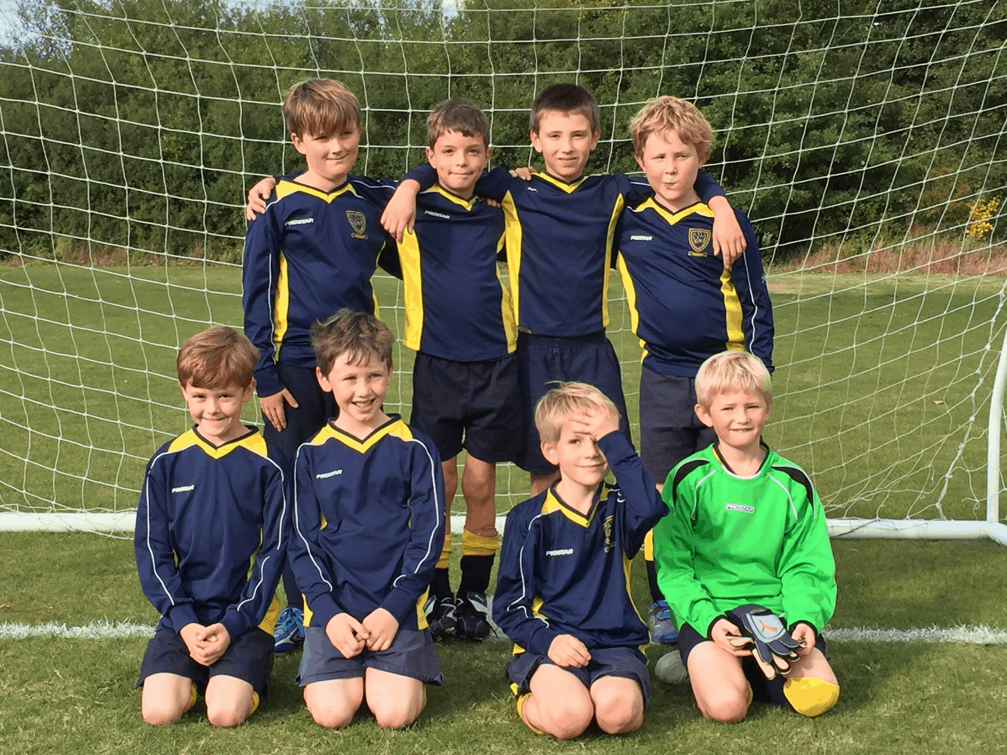 Under 8/9 Football match V Hilden Grange