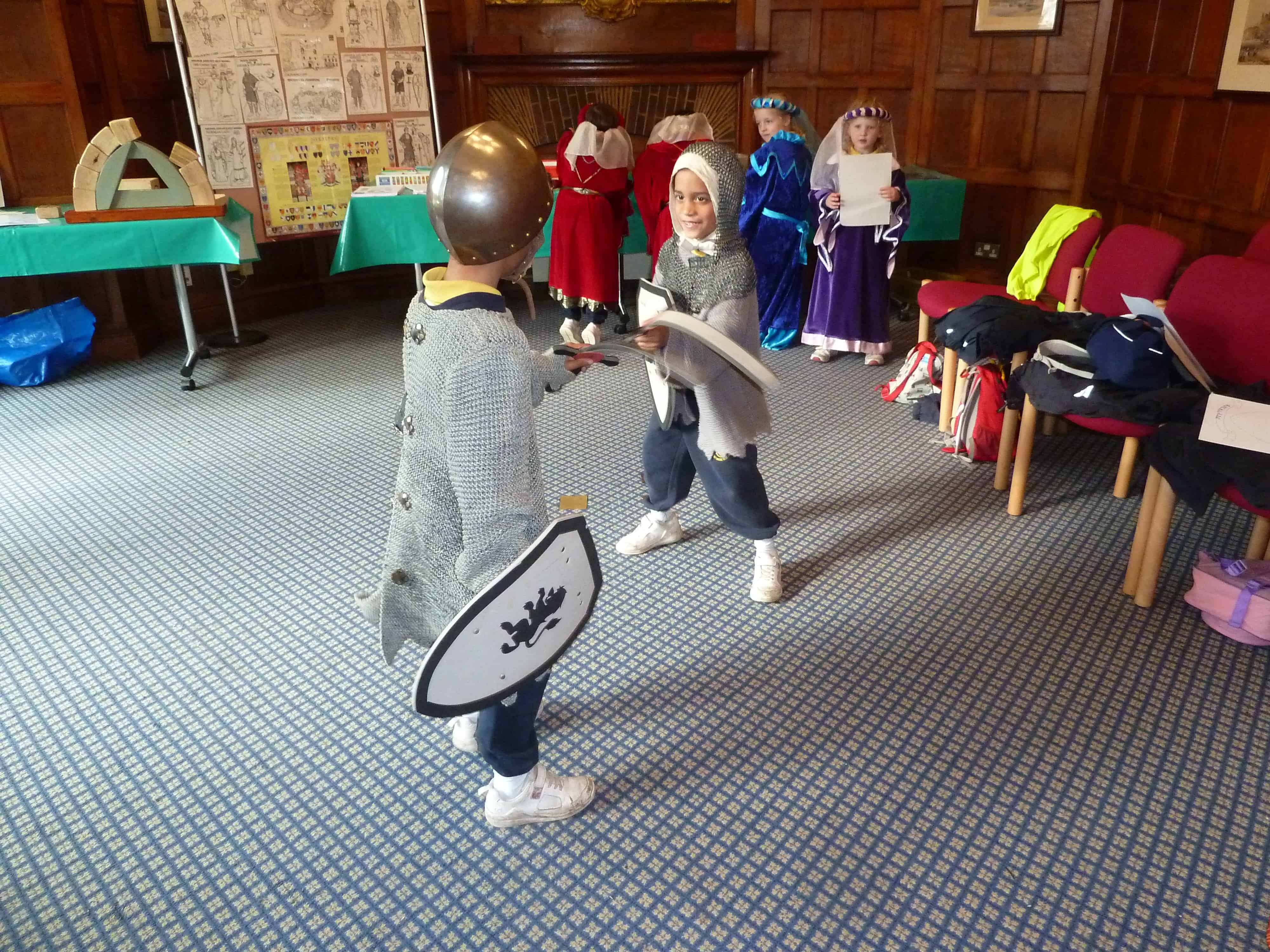 year 1 children as knights